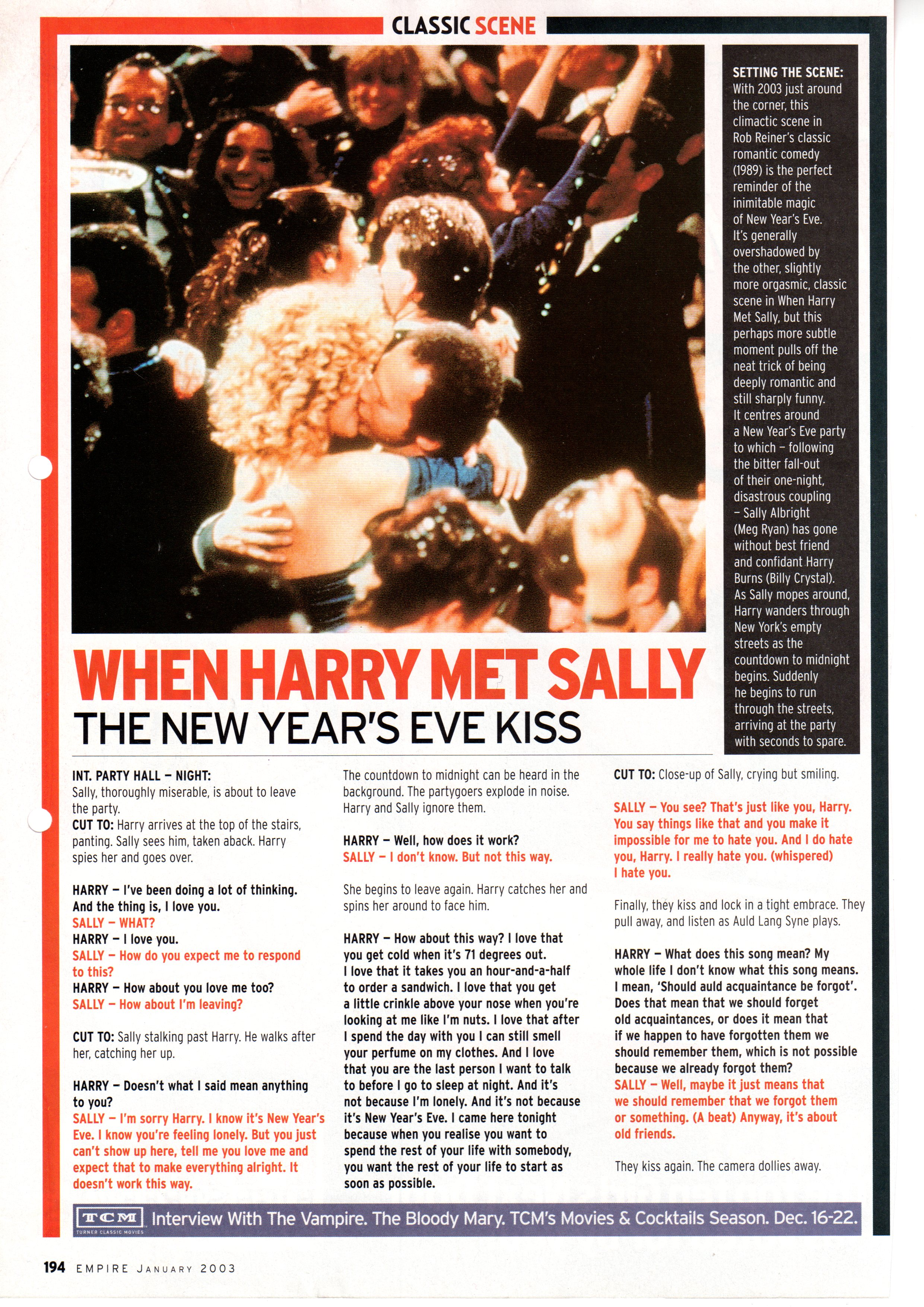 essay on when harry met sally When harry met sally essay 1 id: top14413816 analysis of the genre  and narrative conventions of a film the following paper is going.