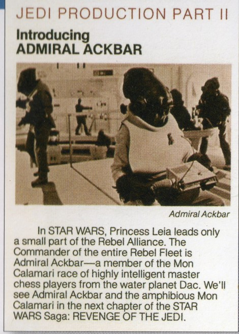 Ackbar Production note158